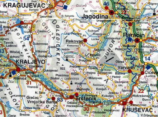 karta srbije trstenik Trstenik :: Vrnjačka Banja :: VBanja.Com karta srbije trstenik